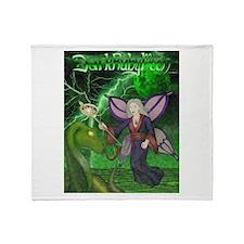 Unique Green pentagram Throw Blanket