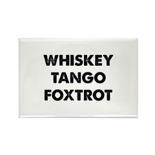Wiskey Tango Foxtrot Rectangle Magnet (10 pack)