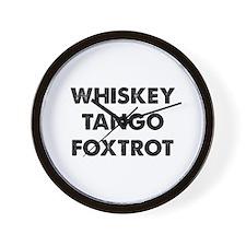 Wiskey Tango Foxtrot Wall Clock
