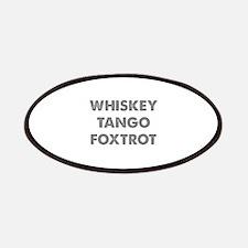 Wiskey Tango Foxtrot Patches