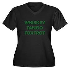 Wiskey Tango Foxtrot Women's Plus Size V-Neck Dark