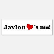 Javion loves me Bumper Bumper Bumper Sticker