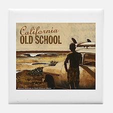 California Old School- Tile Coaster