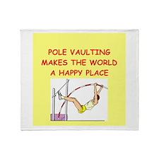 pole vaulting Throw Blanket