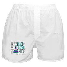Christmas 1 Thyroid Cancer Boxer Shorts