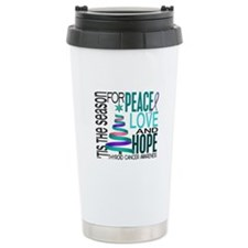 Christmas 1 Thyroid Cancer Travel Mug