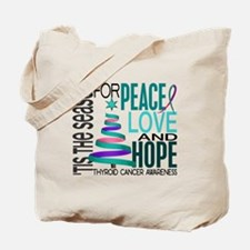 Christmas 1 Thyroid Cancer Tote Bag