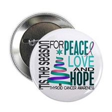 "Christmas 1 Thyroid Cancer 2.25"" Button"