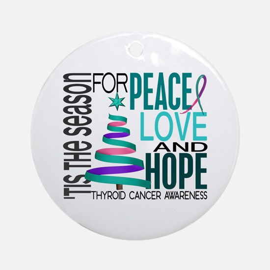 Christmas 1 Thyroid Cancer Ornament (Round)