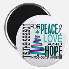 "Christmas 1 Thyroid Cancer 2.25"" Magnet (10 pack)"