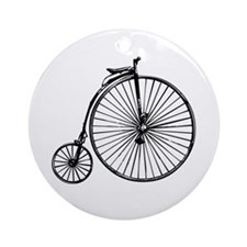Antique Bicycle Ornament (Round)