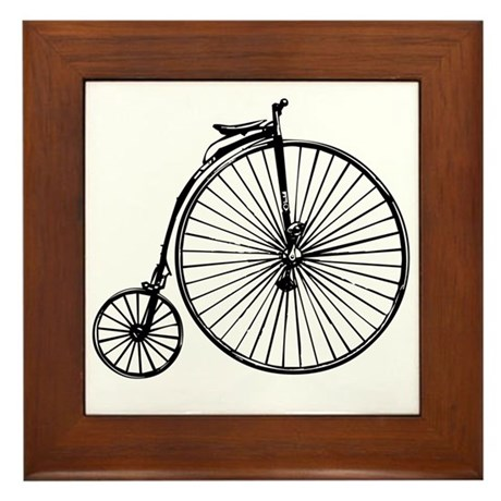 Antique Bicycle Framed Tile