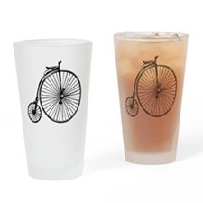 Antique Bicycle Drinking Glass