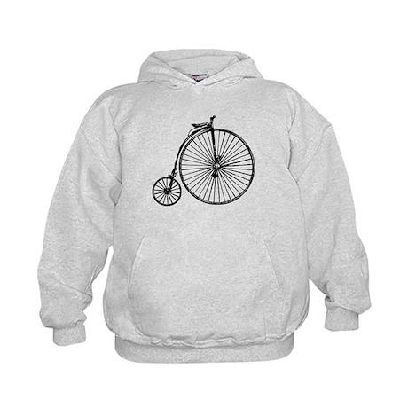 Antique Bicycle Kids Hoodie
