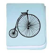 Antique Bicycle baby blanket
