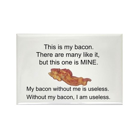 This bacon is MINE Rectangle Magnet (100 pack)