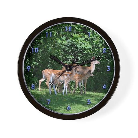 Doe and triplets Wall Clock