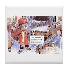 Christmas Outsourced Tile Coaster