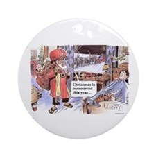 Christmas Outsourced Ornament (Round)