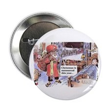 """Christmas Outsourced 2.25"""" Button (10 pack)"""