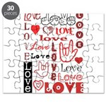 Love WordsHearts Puzzle