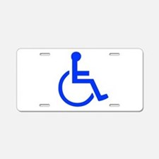 Handicapped Aluminum License Plate