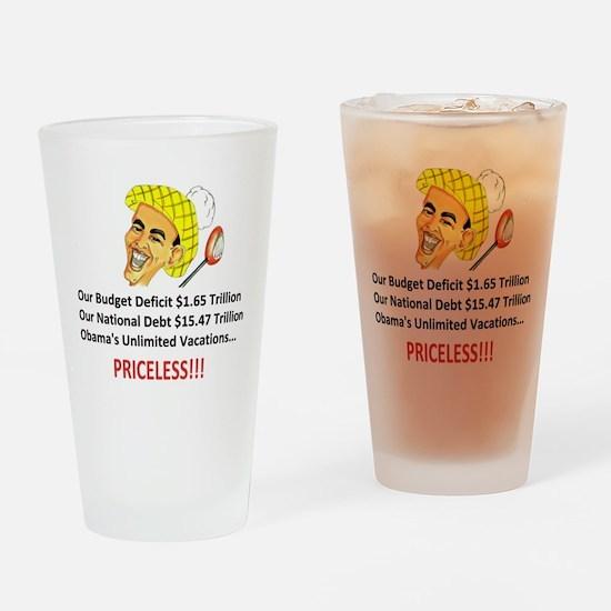 'Priceless' Anti Obama Drinking Glass