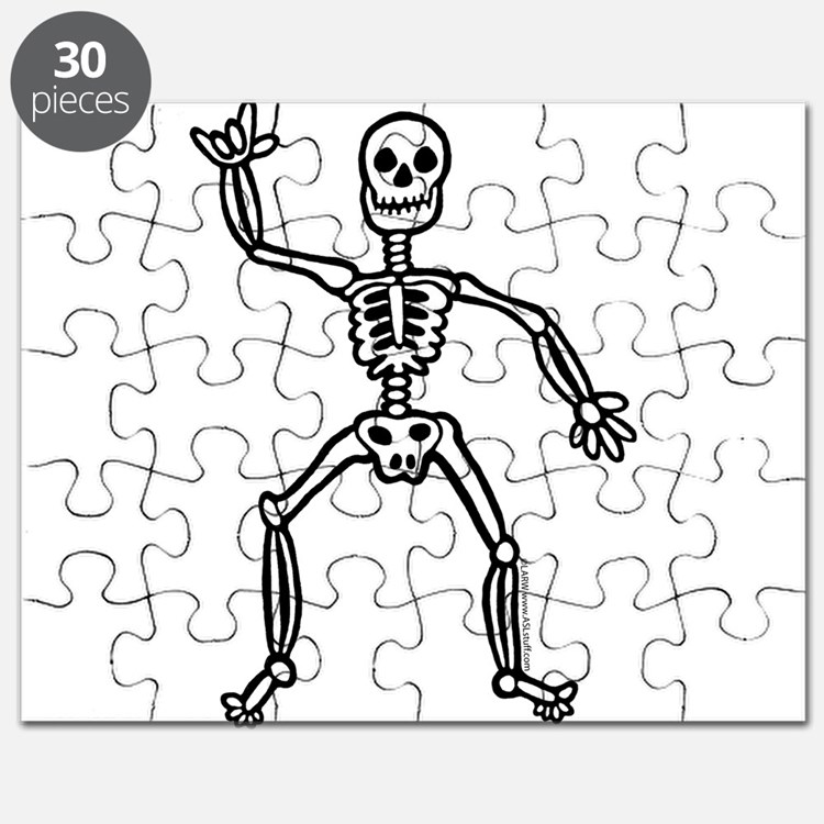 ILY Skeleton Puzzle