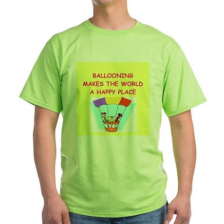 ballooning Green T-Shirt