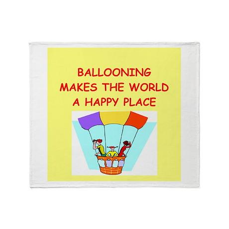 ballooning Throw Blanket