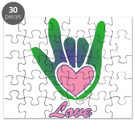 Green/Pink Love Hand Puzzle