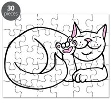 White ASL Kitty Puzzle