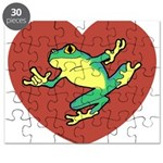 ASL Frog in Heart Puzzle