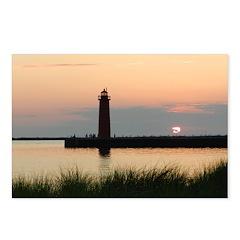 .Muskegon Breakwater Light. Postcards (Package of