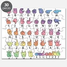 PAS Fingerspelled ABC Puzzle