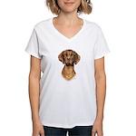Hungarian Vizsla Women's V-Neck T-Shirt