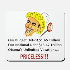 'Priceless' Anti Obama Mousepad