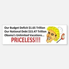 'Priceless' Anti Obama Bumper Bumper Sticker