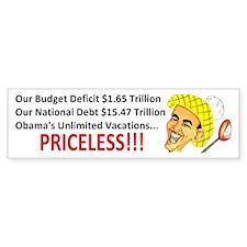 'Priceless' Anti Obama Bumper Sticker