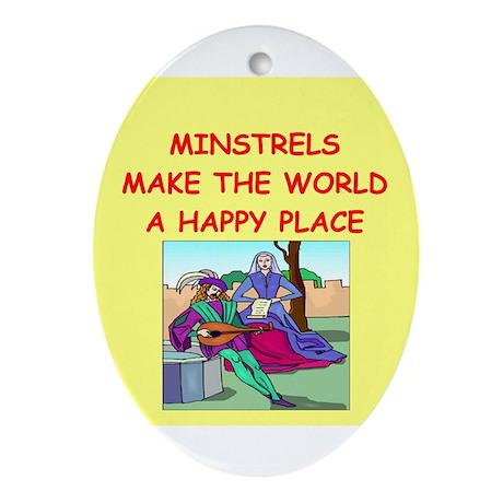 minstrel Ornament (Oval)