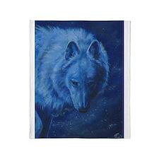 Lone Wolf Throw Blanket