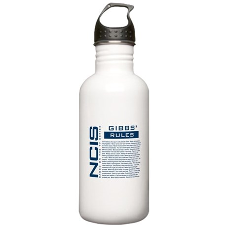 NCIS Gibbs' Rules Stainless Water Bottle 1.0L