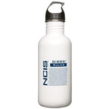 NCIS Gibbs' Rules Water Bottle
