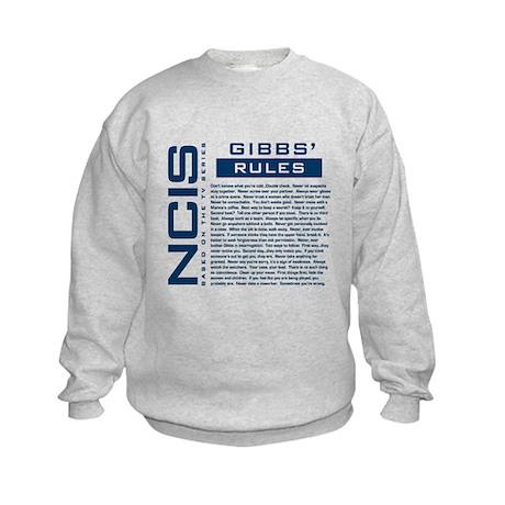 NCIS Gibbs' Rules Kids Sweatshirt