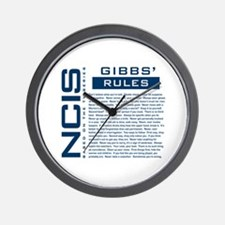 NCIS Gibbs' Rules Wall Clock