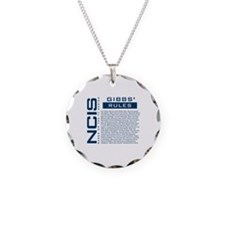 NCIS Gibbs' Rules Necklace