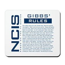 NCIS Gibbs' Rules Mousepad