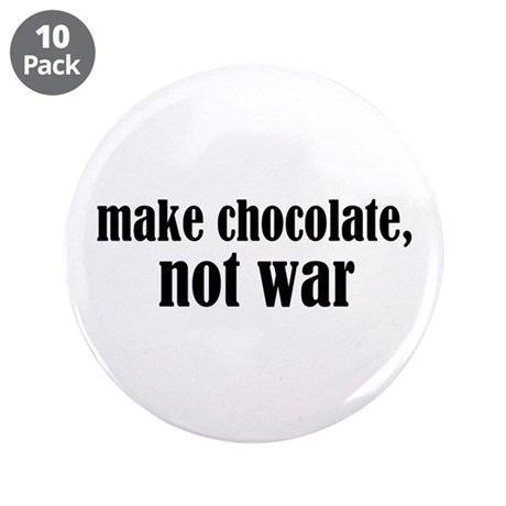 """Make Chocolate 3.5"""" Button (10 pack)"""