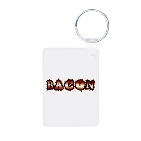 BACON Aluminum Photo Keychain