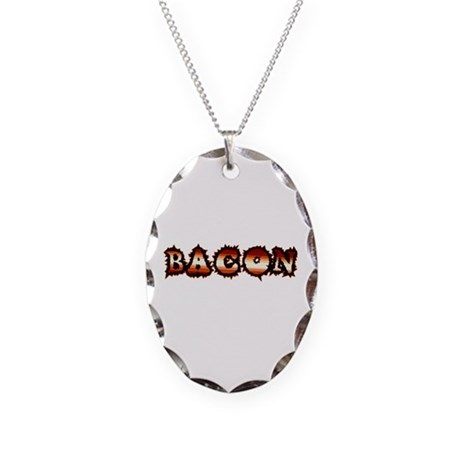 BACON Necklace Oval Charm